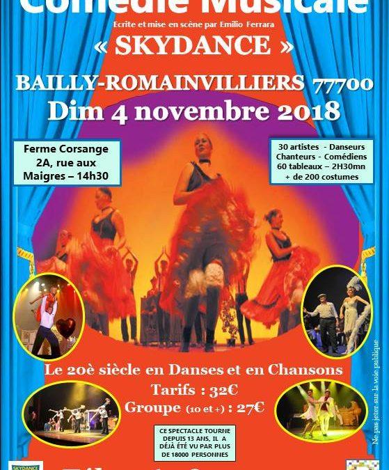 Comédie musicale «Skydance» à Bailly Romainvilliers 04/11/2019