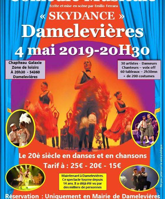 Comédie musicale «Skydance» à Damelevières 54360 le 4 mai 2019